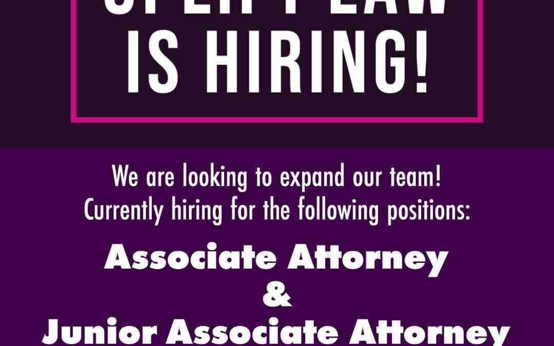 Uplift Law Is Hiring! Two Open Positions For Our Litigation Team!