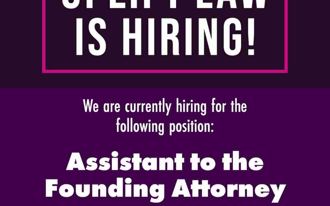 Uplift Law Is Hiring: Assistant to the Founding Attorney